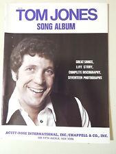 TOM JONES -SONG ALBUM - ORIGINAL &  MINT '60s SHEET MUSIC BOOK-35 pages GR8 PICS