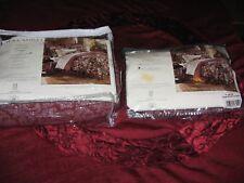 LAURA ASHLEY BROMPTON BURGUNDY RED PAISLEY TW BEDSKIRT &EURO SHAM NEW OLD STOCK