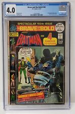 The Brave and the Bold 100th Issue DC Comics 1972 CGC Graded 4.0 Comic Book