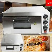 2000W Commercial Single Deck Electric 2KW Pizza Oven Toaster Baking Bread 110V