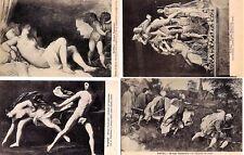Napoli Museo Nazionale Lotto 4 cartoline Erotic Art Nude PC Circa 1910 5