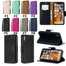 PU Leather Flip Wallet Stand Phone Case Cover For iPhone 11 Max X XR SE 7 (2020)