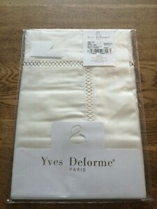 Yves Delorme Bouboir Pillowcase Walton Blanc 300 TC Cotton BNIB