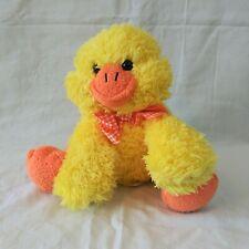 "7"" Melissa & Doug stuffed quacking yellow duck"