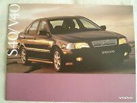 Volvo S40/V40 brochure Nov 1996