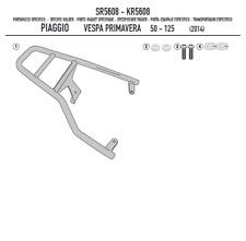 Vespa Sprint 150 14>19 TOPCASE TRÄGER FÜR MONOLOCK® KOFFER SCHWARZ GIVI SR5608