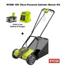 Ryobi 18V Cordless Cylinder Scissor Cut Lawnmower Kit with 5Ah Battery & Charger