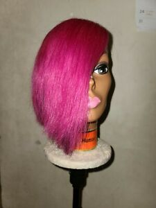 100% Human Hair Shaved Life Partial Quickweaves Wig Side Piece Wig Closure...