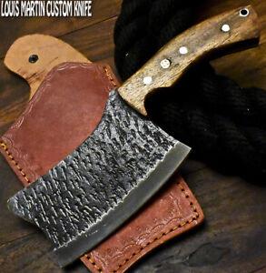Louis Martin Handmade D2 Steel Walnut Wood Hammered Hunting Clever Chopper Axe
