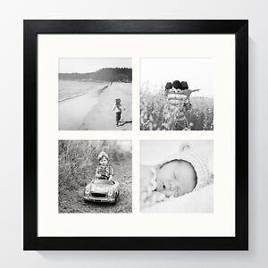 Oxford Black Multi Aperture Photo Frame Instagram Modern Square Picture Collage