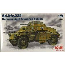 SD.KFZ.222 GERMAN LIGHT ARMORED VEHICLE 1/72 ICM 72411
