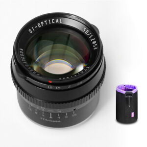 TTArtisan 50mm F1.2 APS-C Manual Lens for Sony E Mount Camera+Pouch