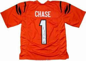 Ja'Marr Chase Signed Autographed Cincinnati Bengals Custom Orange Jersey TRISTAR