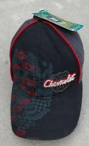 New Chevrolet Vintage Men's Distressed Baseball Cap NWT Black/Gray
