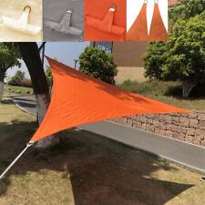 5m Triangular Waterproof Sun Shade Sail Garden Patio Awning Canopy UV    !
