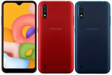 New Samsung Galaxy A01 Dual Sim 4G LTE Sim Free 16GB Smartphone Black Blue Red
