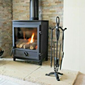 JVL 5 Piece Cotswold Fireside Classic Companion Log Burner Tool Set with stand