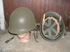 WW2 CASQUE AMERICAIN COMPLET  COQUE + LINER + FILET - GI 1943 - 1944 reconstit