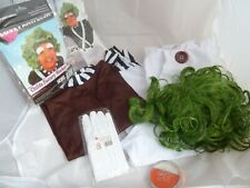 I love Fancy Dress Oompa Loompa Chocolate Factory size 13-14 years + Wig Gloves