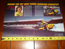 TESON BERNARD YAMAHA XS1100 TOP FUEL DRAG BIKE 197 MPH - ORIGINAL 1980 ARTICLE