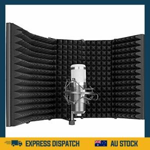 Neewer Pro Microphone Isolation Shield, 5-Panel Pop Filter, High Density - AU