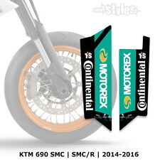 KTM MOTOREX FORCELLA PROTEZIONI DECORO-Fork STICKER DECALS || SMC 690r 2014-2017