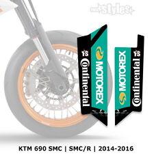 KTM MOTOREX Gabelprotektoren Dekor - fork sticker DECALS || SMC 690R 2014-2017