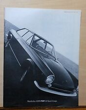 Vintage 1968 magazine ad for Fiat - large photo of Fiat 124 Sport Coupe