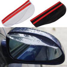 2xUniversal Rain Deflector Blades Car Mirror Shade Back Eyebrow Cover Flap Clear