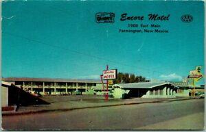 Farmington, New Mexico Postcard ENCORE MOTEL 1900 East Main St. Roadside c1950s