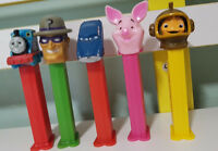 5 PEZ DISPENSER KIDS TOY! PIGLET RIDDLER THOMAS HUDSON HORNET FISH OUT OF WATER!
