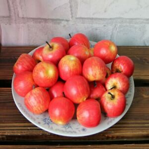 10*Artificial Fake Simulation Apples Plastic Lifelike Kitchen Fruit Decor New