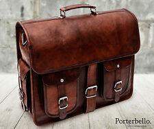 Leather Satchel Briefcase Laptop Bag (RRP £92.99)