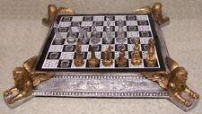 """Chess Set game with Board & Storage Dawn of History Egypt Pharaohs 3"""" Kings NEW"""