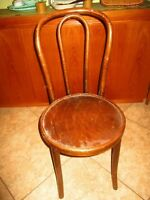 """Antique Bentwood Caned Thonet 1 Chair Bistro Cafe Parlor 35"""" tall"""