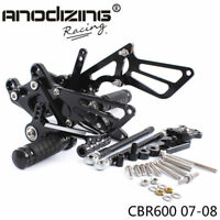 CNC Racing Rearset Rear Set Footrest Peg Pedal Fit For HONDA CBR600RR 07-08