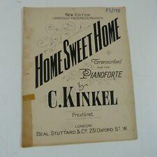 piano music C KINKEL home sweet home