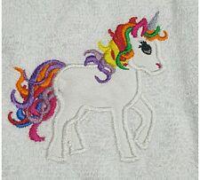 Embroidered Facewasher - Rainbow Unicorn,,.