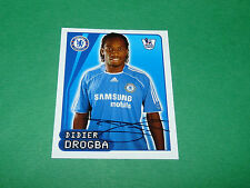 N°194 D. DROGBA CHELSEA BLUES MERLIN PREMIER LEAGUE FOOTBALL 2007-2008 PANINI
