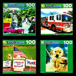 100 Piece Jigsaw Puzzles (4 Pack) Puzzlebug 9 in x 11 in, Set of 4 NIB