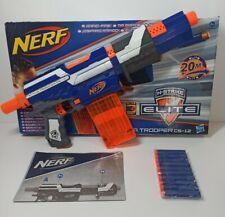 NERF N-STRIKE ELITE BLASTER, ALPHA TROOPER CS-12, 20 Elite Darts. BOXED