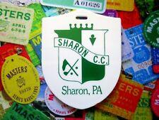 vtg - PGA Golf Bag Tag - SHARON COUNTRY CLUB cc - Sharon PA