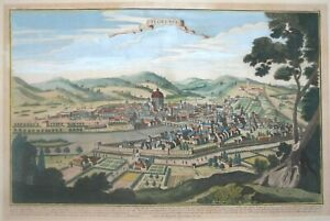 ITALY - ATTRACTIVE VIEW OF FLORENCE PUBLISHED IN PARIS CIRCA 1740.