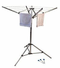 Kampa Rotary 4 Arm Washing Line, Portable Foldable Airer Ideal Camping, Caravan