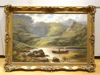 Large 19th Century British River Valley Landscape Far From The Madding Crowd