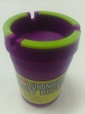 LUMINOUS BUTT BUCKET EXTINGUISHING ASHTRAY FITS CAR CUP HOLDER GLOW IN THE DARK