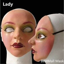 Female mask latex silicone Ex Machina realistic human skin masks Halloween dance