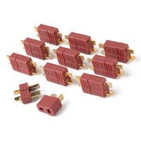 10 Paar 20 Stück Nylon Hochstrom T-Stecker Buchse Dean T-Plug Connector Lipo RC