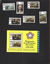 Togo sc#924-5,C270-3 #C273a Souvenir Sheet (1976) Complete MLH  Imperf