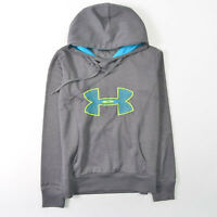 Under Armour Fleece Storm Big Logo Hoodie Embroidery Semi Fitted Womens Small S